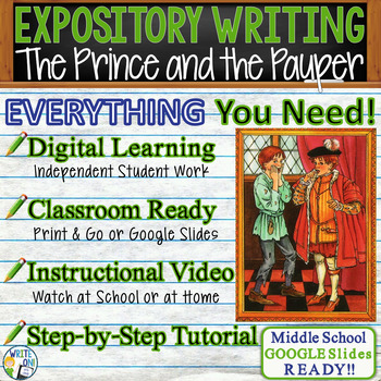 The Prince and the Pauper Mark Twain Text Dependent Analysis Expository Writing