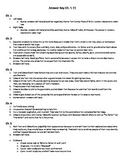 The Prince and the Pauper Reading Guide Answer Key Ch. 1-11