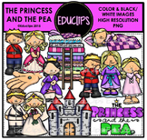 The Princess And The Pea Clip Art Bundle {Educlips Clipart}