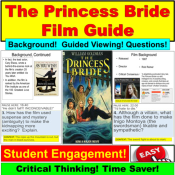 The Princess Bride (Film Guide and Questions)