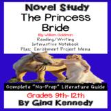 The Princess Bride Novel Study + Project Menu