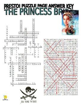 The Princess Bride Puzzles Pages (wordsearch / criss-cross / sentences / w key)