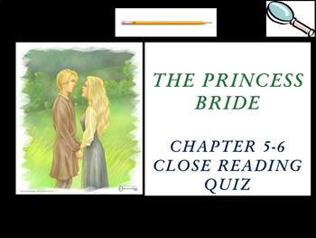 The Princess Bride by William Goldman - Chapters 5-6 Quiz (Short Answer)