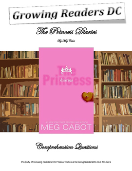 The Princess Diaries Comprehension Questions and Answer Key