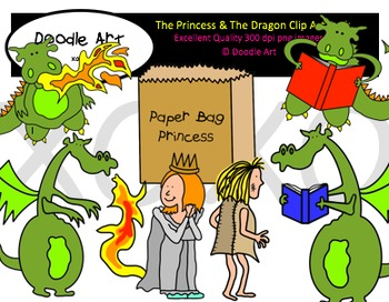 The Princess & The Dragon Clipart Pack