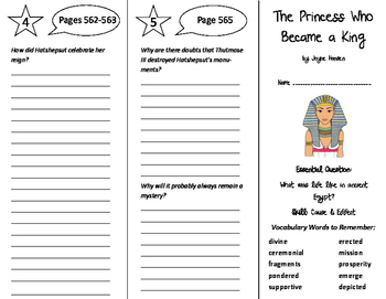 The Princess Who Became a King Trifold - Journeys 6th Gr U 4 Wk 4 (2014, 2017)