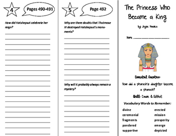 The Princess Who Became a King Trifold - Journeys 6th Grade Unit 4 Week 4 (2011)