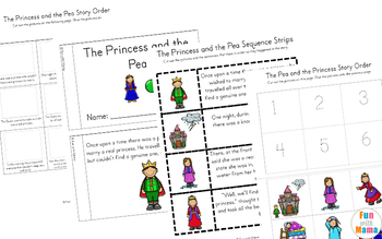 The Princess and The Pea Activities + Worksheets