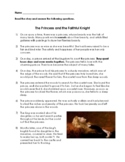 The Princess and the Faithful Knight Reading Passage - Now with Google Slides!