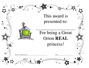 The Princess and the Pea Certificate