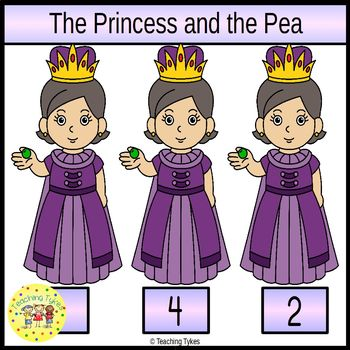 The Princess and the Pea Clip Task Cards