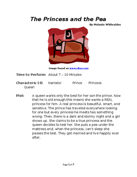 The Princess and the Pea - Small Group Reader's Theater