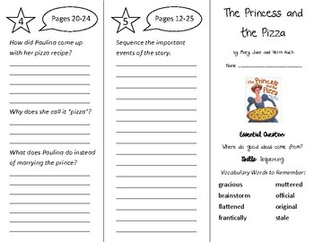 The Princess and the Pizza Trifold - Wonders 4th Grade Unit 1 Week 1
