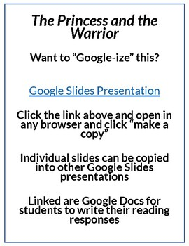 The Princess and the Warrior by Duncan Tonatiuh Lesson Plan & Google Activities