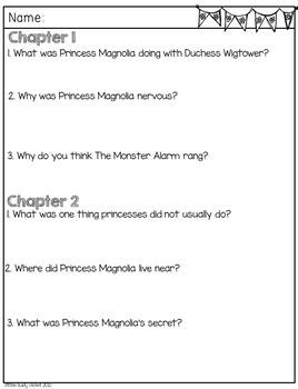 The Princess in Black Comprehension Unit
