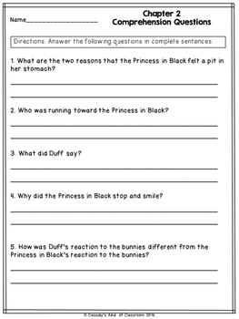 The Princess in Black and the Hungry Bunny Horde Novel Study