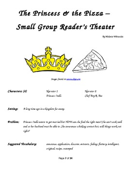 The Princess & the Pizza - Small Group Reader's Theater
