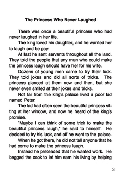 The Princess who Never Laughed - Short Story