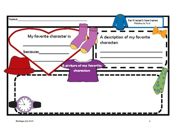 The Principal's New Clothes Literacy and Math Over 70 pages