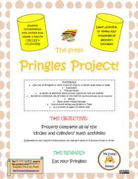 The Pringles Project: Hands-On Problem Solving with Circles and Cylinders