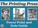 The Printing Press Mini Lesson