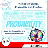 The Prize Wheel Probability Unit Problem - Grade 7 (7.SP.C.5 & 7.SP.C.6)