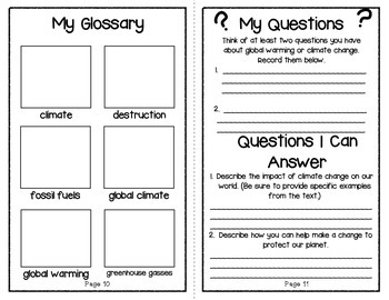 The Problem With Global Warming: An Interactive Science Reader {Problem Series}