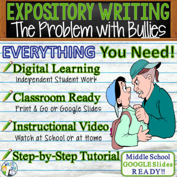 The Problem with Bullies - Text Dependent Analysis Expository Writing