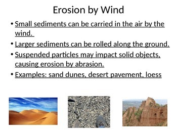 The Process of Erosion and Deposition of Sediments