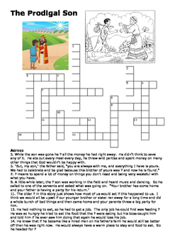 The Prodigal Son Crossword