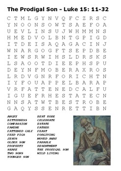 The Prodigal Son Word Search