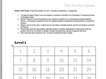 The Product Game