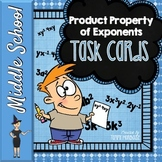 The Product Property of Exponents - Task Cards