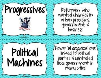 Progressive Era Flash Cards