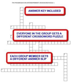 The Progressive Era: Interdependent Crossword Puzzles Activity