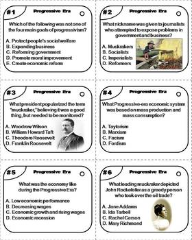 The Progressive Era Task Cards