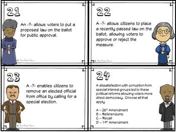 The Progressive Era Task Cards for US History
