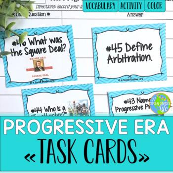 Progressive Era Task Cards and Recording Sheet