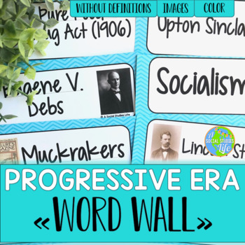 Progressive Era Word Wall without definitions