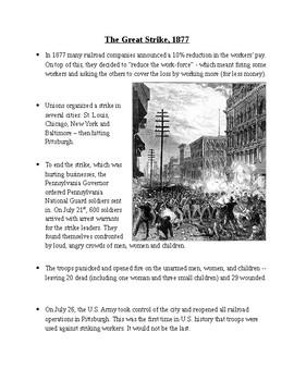 The Progressive Movement: Labor Unions & Strikes