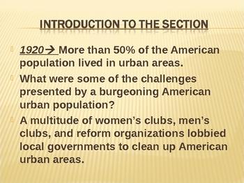 The Progressive Movement in America