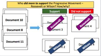 The Progressive Presidents (Roosevelt & Wilson) (LP + Docs + PPT + Charts)