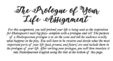 The Prologue of Your Life