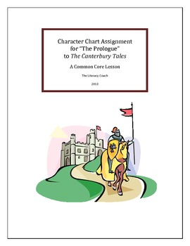 """""""The Prologue"""" to the Canterbury Tales - Character Chart A"""
