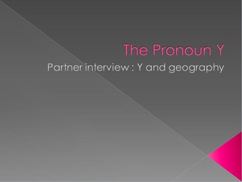 The Pronoun Y : partner interview with Y and geography