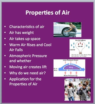 The Properties of Air - PowerPoint Lesson Package