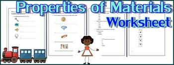 The Properties of Materials Worksheet FREE!