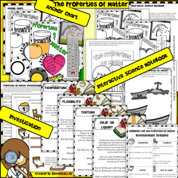 The Properties of Matter: 2nd Grade Science Complete Lesson Set