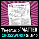 Properties of Matter - Crossword {Editable}