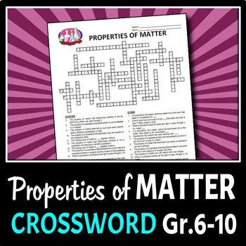 Properties Of Matter Crossword Editable